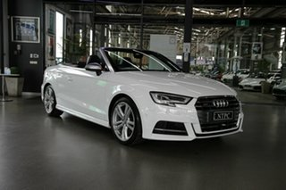 2017 Audi S3 8V MY17 S Tronic Quattro White 7 Speed Sports Automatic Dual Clutch Cabriolet