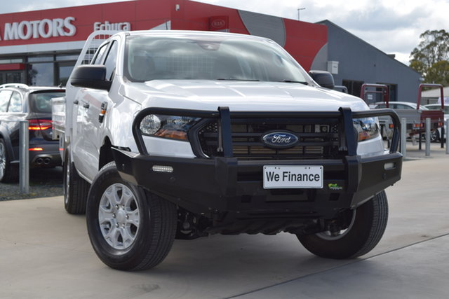Used Ford Ranger PX MkIII 2020.75MY XL Echuca, 2020 Ford Ranger PX MkIII 2020.75MY XL Arctic White 6 Speed Sports Automatic Double Cab Chassis