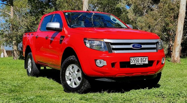 Used Ford Ranger PX XLS Double Cab Nuriootpa, 2014 Ford Ranger PX XLS Double Cab Red 6 Speed Manual Utility
