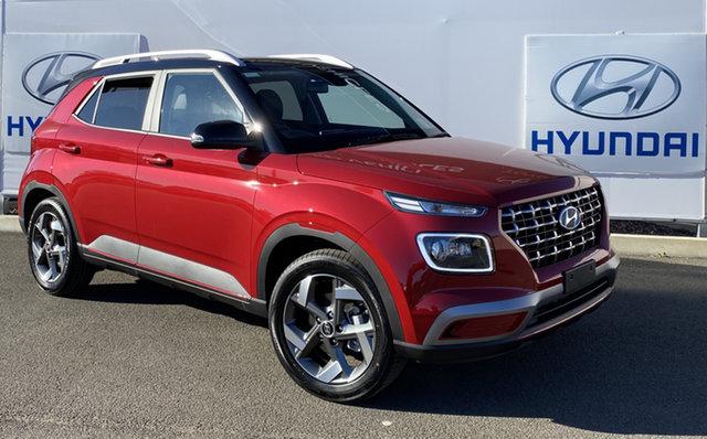New Hyundai Venue QX.V3 MY21 Elite Warwick, 2021 Hyundai Venue QX.V3 MY21 Elite Fiery Red 6 Speed Automatic Wagon