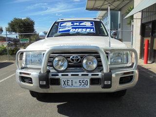 2005 Toyota Landcruiser HDJ100R GXL White 5 Speed Automatic Wagon.
