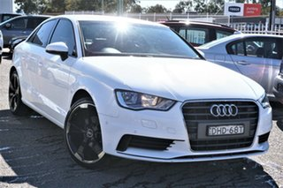 2015 Audi A3 8V MY16 Attraction S Tronic White 7 Speed Sports Automatic Dual Clutch Sedan.
