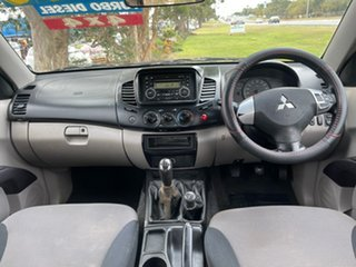 2010 Mitsubishi Triton MN MY11 GL-R Double Cab White 5 Speed Manual Utility