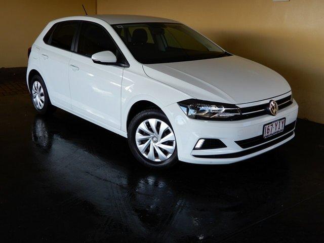Used Volkswagen Polo AW MY18 70TSI Trendline Toowoomba, 2018 Volkswagen Polo AW MY18 70TSI Trendline White 7 Speed Auto Direct Shift Hatchback