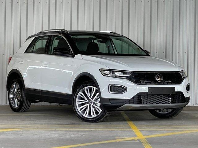 Demo Volkswagen T-ROC A1 MY21 110TSI Style Moorabbin, 2021 Volkswagen T-ROC A1 MY21 110TSI Style White 8 Speed Sports Automatic Wagon