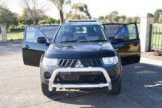 2008 Mitsubishi Triton ML MY08 GLX Black 4 Speed Automatic Double Cab Utility