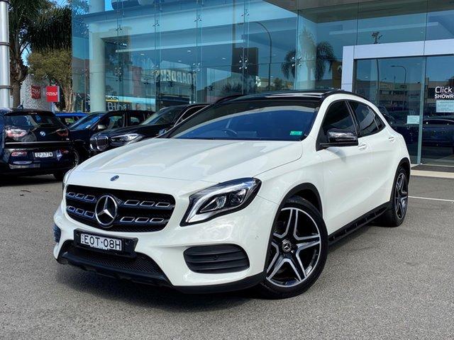 Used Mercedes-Benz GLA250 4Matic X156 MY18 Brookvale, 2017 Mercedes-Benz GLA250 4Matic X156 MY18 Cirrus White 7 Speed Auto Dual Clutch Wagon