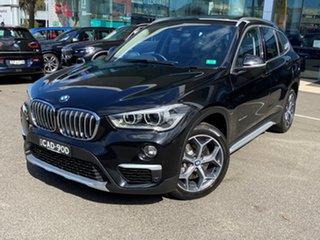 2016 BMW X1 F48 xDrive 20D Black Sapphire 8 Speed Automatic Wagon.