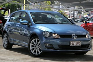 2013 Volkswagen Golf VII 103TSI DSG Highline Pacific Blue 7 Speed Sports Automatic Dual Clutch.