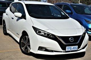 2019 Nissan Leaf ZE1 Arctic White 1 Speed Reduction Gear Hatchback.