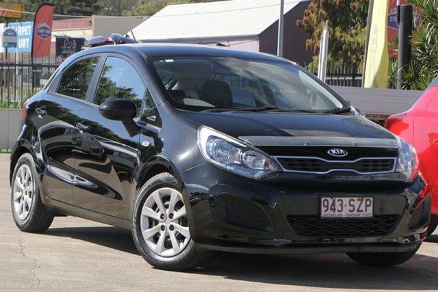 Used Kia Rio UB MY13 S Bundamba, 2012 Kia Rio UB MY13 S Black 4 Speed Sports Automatic Hatchback