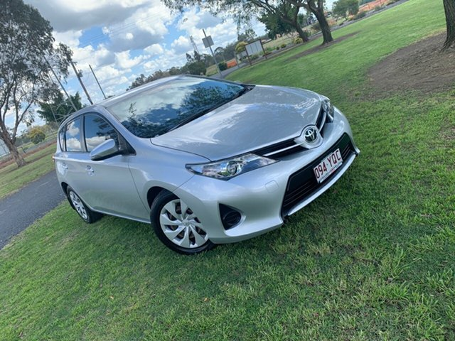 Used Toyota Corolla ZRE182R Ascent Moree, 2014 Toyota Corolla ZRE182R Ascent Silver Metallic 6 Speed Manual Hatchback