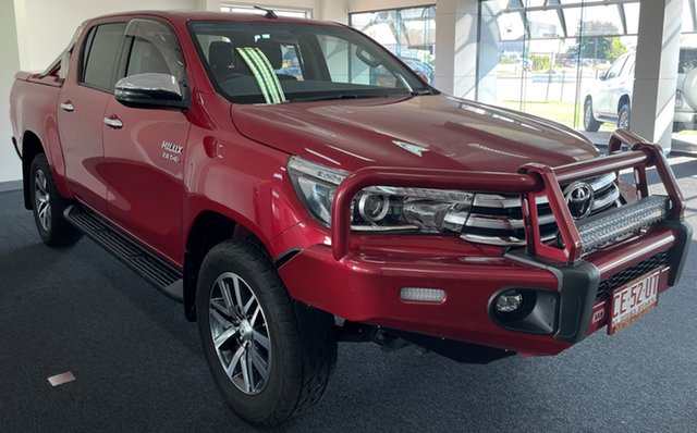Used Toyota Hilux GUN126R SR5 Double Cab Winnellie, 2018 Toyota Hilux GUN126R SR5 Double Cab Red 6 Speed Sports Automatic Utility