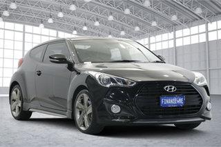 2014 Hyundai Veloster FS3 SR Coupe Turbo Phantom Black 6 Speed Sports Automatic Hatchback.