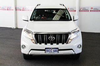 2016 Toyota Landcruiser Prado GRJ150R MY16 GXL (4x4) Glacier White 6 Speed Automatic Wagon.