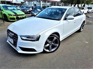 2012 Audi A4 B8 8K MY13 Multitronic White 8 Speed Constant Variable Sedan.