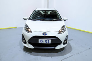 2017 Toyota Prius c NHP10R MY17 Hybrid White Continuous Variable Hatchback.