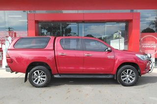 2016 Toyota Hilux GUN126R SR5 Double Cab Red 6 Speed Sports Automatic Utility.