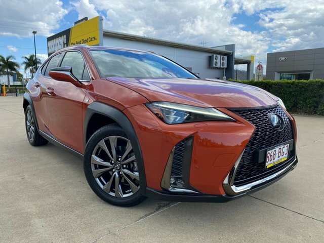 Used Lexus UX MZAA10R UX200 2WD F Sport Townsville, 2018 Lexus UX MZAA10R UX200 2WD F Sport Orange/180119 1 Speed Constant Variable Hatchback