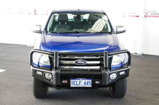 2014 Ford Ranger PX XLT 3.2 (4x4) Blue 6 Speed Automatic Double Cab Pick Up.