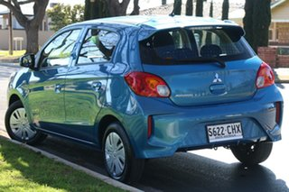 2020 Mitsubishi Mirage LB MY21 ES Blue 1 Speed Constant Variable Hatchback.