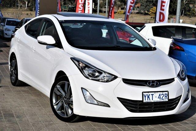 Used Hyundai Elantra MD3 Premium Phillip, 2015 Hyundai Elantra MD3 Premium White 6 Speed Sports Automatic Sedan
