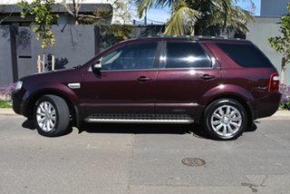 2010 Ford Territory SY MkII Ghia Maroon 4 Speed Sports Automatic Wagon.