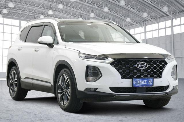 Used Hyundai Santa Fe TM.2 MY20 Highlander Victoria Park, 2020 Hyundai Santa Fe TM.2 MY20 Highlander White 8 Speed Sports Automatic Wagon