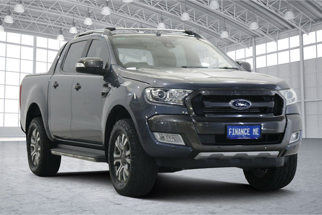 Used Ford Ranger PX MkII Wildtrak Double Cab Victoria Park, 2016 Ford Ranger PX MkII Wildtrak Double Cab Meteor 6 Speed Sports Automatic Utility