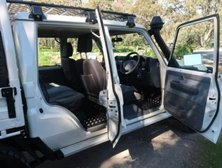 2019 Toyota Landcruiser VDJ79R GXL Double Cab White 5 Speed Manual Cab Chassis
