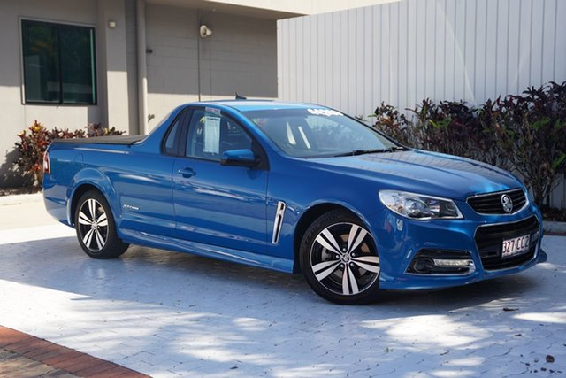Used Holden Ute VF MY14 SS Ute Storm Cairns, 2014 Holden Ute VF MY14 SS Ute Storm Blue 6 Speed Sports Automatic Utility