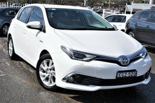 2016 Toyota Corolla ZWE186R Hybrid E-CVT White 1 Speed Constant Variable Hatchback Hybrid.