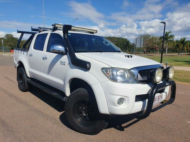 Used Toyota Hilux KUN26R MY10 SR5 Townsville, 2009 Toyota Hilux KUN26R MY10 SR5 White 4 Speed Automatic Utility