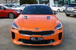 2019 Kia Stinger CK MY19 GT Fastback Orange 8 Speed Sports Automatic Sedan.