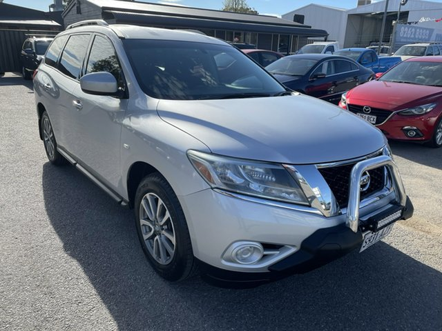 Used Nissan Pathfinder R52 MY14 ST X-tronic 4WD Gepps Cross, 2013 Nissan Pathfinder R52 MY14 ST X-tronic 4WD Silver 1 Speed Constant Variable Wagon