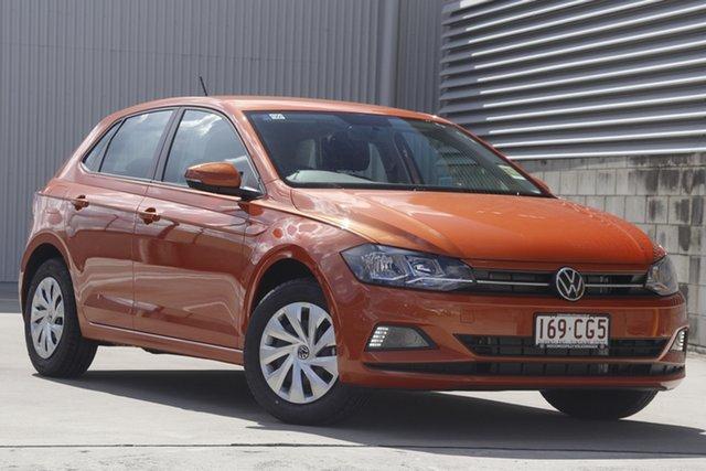 Demo Volkswagen Polo AW MY21 70TSI DSG Trendline Indooroopilly, 2021 Volkswagen Polo AW MY21 70TSI DSG Trendline Energetic Orange 7 Speed