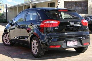 2012 Kia Rio UB MY13 S Black 4 Speed Sports Automatic Hatchback.