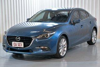 2018 Mazda 3 BN MY17 SP25 GT Blue 6 Speed Automatic Sedan.
