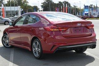 2018 Hyundai Elantra AD MY18 SR DCT Turbo Red 7 Speed Sports Automatic Dual Clutch Sedan.