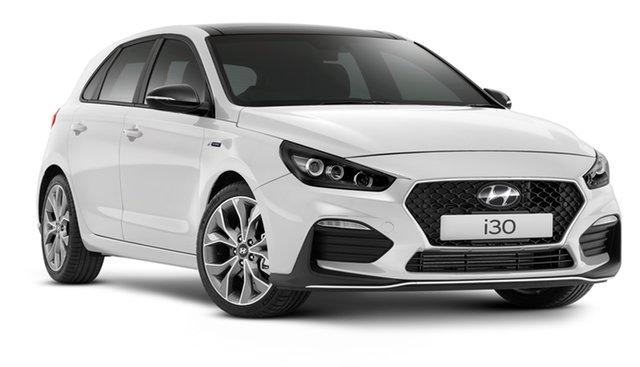 New Hyundai i30 PD.V4 MY21 N Line D-CT Premium Geelong, 2021 Hyundai i30 PD.V4 MY21 N Line D-CT Premium Fluidic Metal 7 Speed Automatic Hatchback