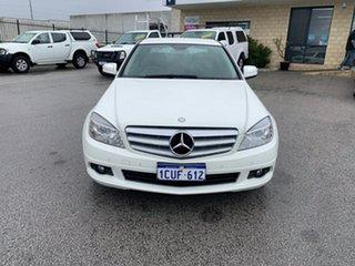 2008 Mercedes-Benz C200 W204 Kompressor Classic White 5 Speed Auto Tipshift Sedan.