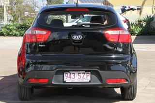 2012 Kia Rio UB MY13 S Black 4 Speed Sports Automatic Hatchback