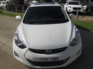 2011 Hyundai Elantra MD Premium White 6 Speed Sports Automatic Sedan.