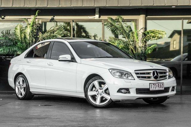 Used Mercedes-Benz C-Class W204 MY10 C200 CGI Classic Bowen Hills, 2010 Mercedes-Benz C-Class W204 MY10 C200 CGI Classic White 5 Speed Sports Automatic Sedan