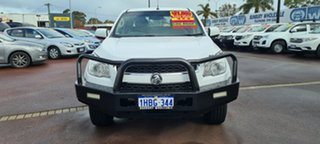 2013 Holden Colorado RG MY13 LX Crew Cab White 5 Speed Manual Cab Chassis.
