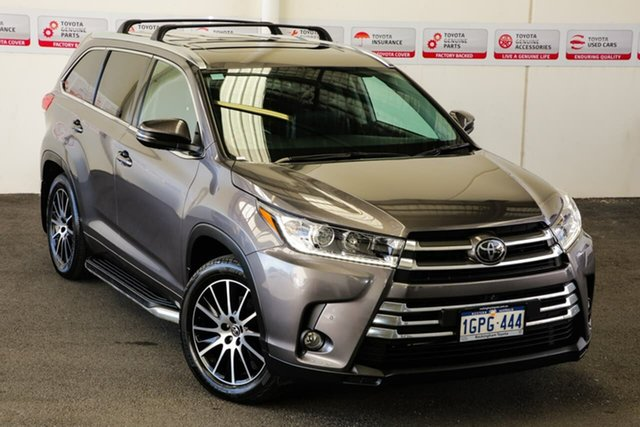 Pre-Owned Toyota Kluger GSU55R Grande (4x4) Rockingham, 2018 Toyota Kluger GSU55R Grande (4x4) Predawn Grey 8 Speed Automatic Wagon