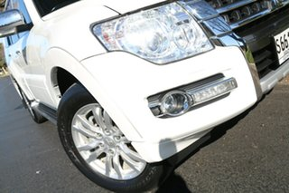 2015 Mitsubishi Pajero NX MY15 GLS White 5 Speed Sports Automatic Wagon.