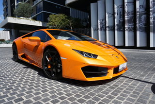 2018 Lamborghini Huracan 724 LP580-2 Atomic Orange 7 Speed Sports Automatic Dual Clutch Coupe.