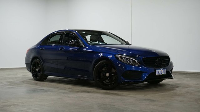 Used Mercedes-Benz C-Class W205 806+056MY C200 7G-Tronic + Welshpool, 2016 Mercedes-Benz C-Class W205 806+056MY C200 7G-Tronic + Brilliant Blue 7 Speed Sports Automatic