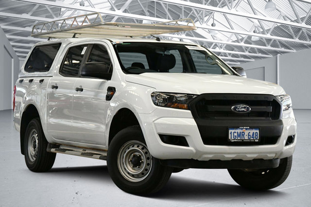 Used Ford Ranger PX MkII 2018.00MY XL Hi-Rider Perth Airport, 2018 Ford Ranger PX MkII 2018.00MY XL Hi-Rider Cool White 6 Speed Sports Automatic Cab Chassis